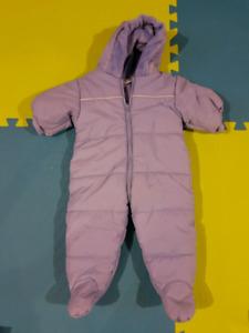 Baby Snowsuit (baby blue) (0-6 months)
