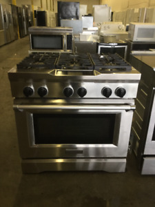 "36"" Kitchen Aid Stainless Steel Gas Stove Range"
