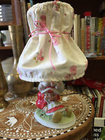 VINTAGE 1981 A.G.C STRAWBERRY SHORTCAKE LAMP FABRIC SHADE