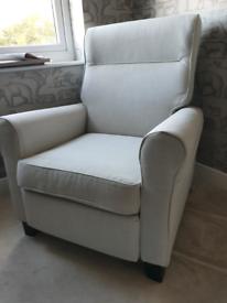 MUREN IKEA Recliner Armchair, light grey