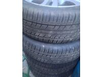 TYRE WITH ***FREE ALLOYS