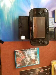 Wii U console, hand held screen controller + game