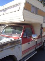 Truck camper for sale! Well-taken care of and clean!