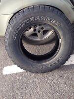 4 Pacemark Snowtrakker winter tires:235/70R16
