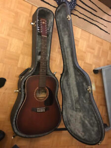 12 String Acoustic Guitar (Art and Lutherie)  and Hard Case