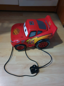 Disney pixar cars lighting mcqueen boombox cd player