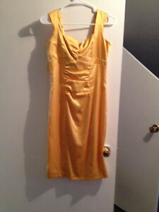 Le Chateau Gold Dress