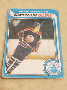 1979 Official Good Condition Wayne Gretzky Rookie Card OPC RARE