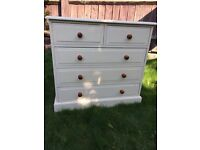 Up Cycled Medium Size Chest of Drawers /Can Deliver