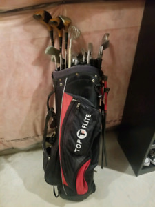 Golf clubs with bag (left handed)