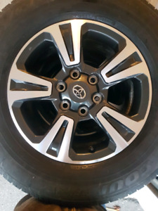 Toyota OEM rim and tire package