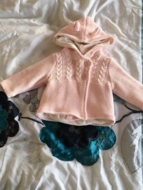Baby girl hooded cardigan