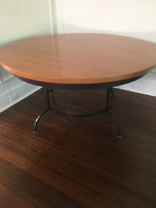 Solid Wood Round Dining Room or Kitchen Table