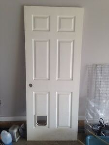Door with cat hole for sale