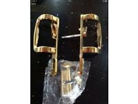 Gold lock n key door handles