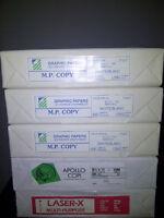 """Feuilles d'imprimante 8.5 x 14"""" ou 8.5 x 11"""" (Valeur de +60$)"""