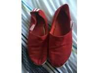 Adidas Red Espadrilles style Shoe
