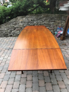 Mid Century Teak Dining Table in time for Thanksgiving!