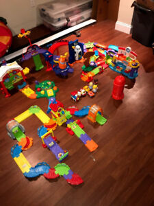 VTECH train station, check up clinic, space station, farm