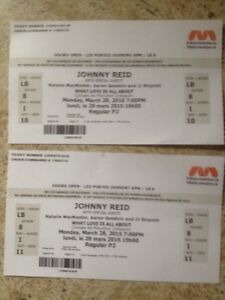 Tickets to Johnny Reid tonight CHEAP!
