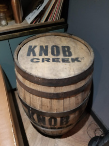 Knob Creek Full Sized Wooden Barrel