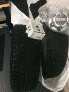 FOR SALE 4 WINTER TIRE AND RIMS WITH STUD GMC 2014