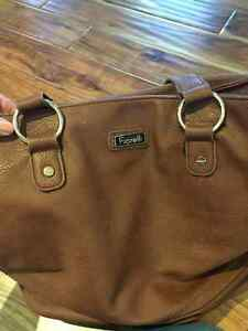 Foreli Brown genuine leather hand bag Cambridge Kitchener Area image 6