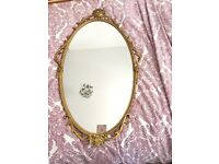 BEAUTIFUL GILTED VINTAGE ANTIQUE MIRROR FREE DELIVERY