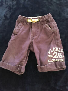 purple shorts size 1 (approx 12-18 months)