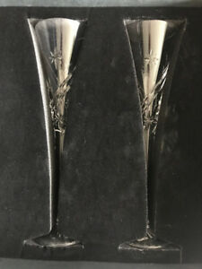 WATERFORD CRYSTAL - TOASTING FLUTES..NEW...$50 or 30% off