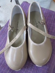 Revolution Taupe Tap Shoes - Size 11.5  Great condition