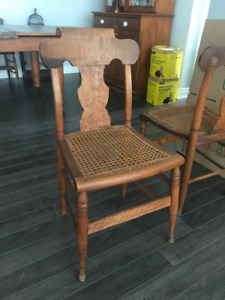 Tiger striped maple, Lanark county chairs mid 19th century