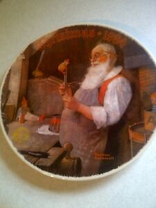 Norman Rockwell Collector Plate Bradford Exchange Christmas