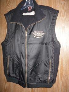 Mens Harley Davidson Cozy Vest !! Made In Canada !! SZ L !!