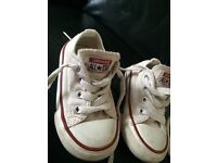 Toddler size 5 Converse All Star white shoe trainer