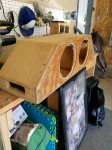 """Ported sub box 2 10"""" inch subs"""