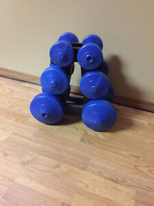 Weights with rack for sale