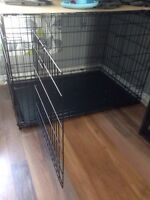 Large dog wire crate with separater wall