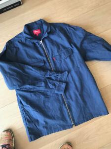 SUPREME- Flannel zip up light shirt