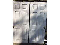"Two internal doors 2ft 6"" / (30"")"