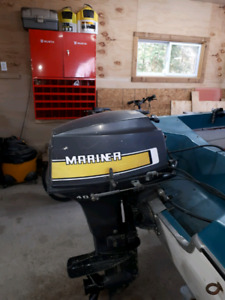 40 hp motor boat and trailer