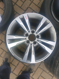 "A2124015602 Mercedes Genuine 17"" Alloy Wheels Et48 J8 5x112 66.5CB x4"