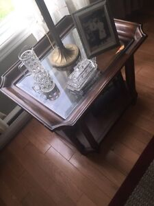 Bevilled Glass End Table
