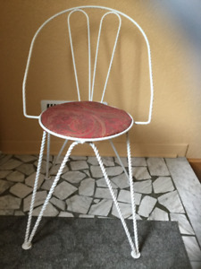 Chaise en fer forgé