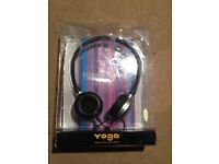 Yoga stereo headphones -brand new ideal for any mp3 player or ipod/phone