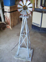 Metal Windmill, 58 Inches High, 12 Inch Blade