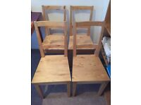 4 Wooden Chairs - good condition