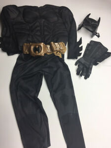 Child's Batman Muscle Costume with accessories