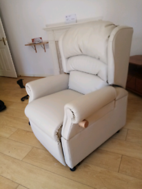 Multi function leather chair.
