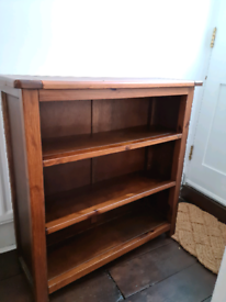 Walnut wood book shelf / side board